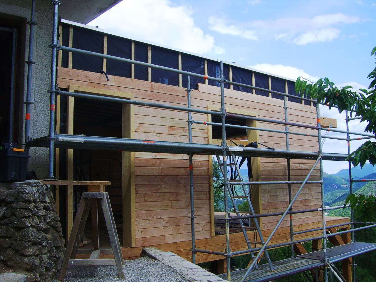 Maison ossature bois le vigan boiseco construction for Construction maison bois 56
