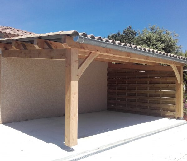 Auvent terrasse piscines boiseco construction gard