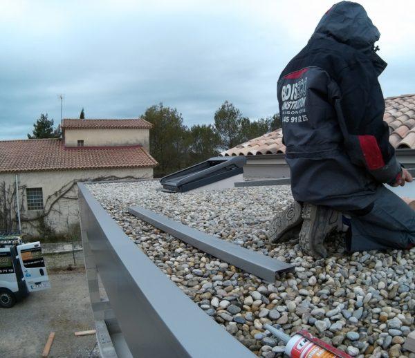 Toiture terrasse lesté