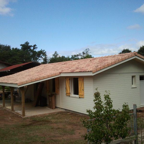 Maison ossature bois landaise