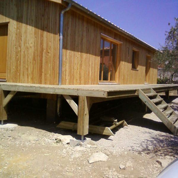 Maison bois sur pilotis