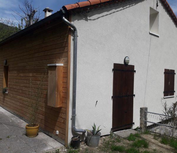 ITE Isolation thermique par l'extérieur d'une maison en pierre